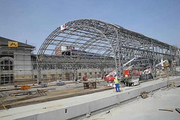 Stahlbauten Neubau Hauptbahnhof Salzburg